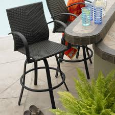 Swivel Wicker Patio Chairs by Stylish Outdoor Wicker Bar Stool Patio U0026 Outdoor Outdoor Patio Bar