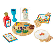 passover seder set wooden passover play set for preschoolers kids can get into