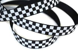 checkered ribbon race car ribbon checkerboard ribbon finish line ribbon checker