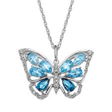 butterfly pendant necklace silver images Topaz sterling silver butterfly pendant necklace