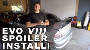 evo 10 spoiler installing an evo 8 spoiler w trunk youtube
