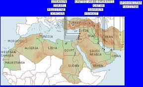 middle east map with country name middle east maps