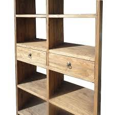 rustic wood display cabinet rustic wood open shelf bookcase display cabinet chairish