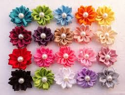 satin ribbon flowers aliexpress buy hot sale hair flowers accessories satin
