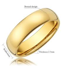 gold wedding bands for king will 6mm 24k gold plated high polished