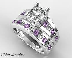 unique wedding ring sets unique diamond bridal ring set vidar jewelry unique custom