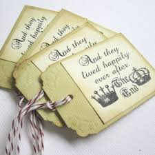 wedding favor tags happily after fairytale wedding favor or tags
