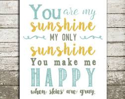 You Are My Sunshine Wall Decor You Are My Sunshine Wall Art Etsy Yellow Grey You Are My