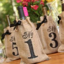 amazon com hortense b hewitt burlap table number wine bags