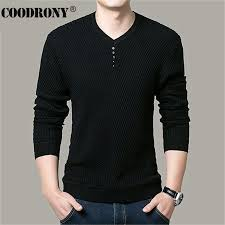 solid color pullover men v neck sweater men long sleeve shirt mens