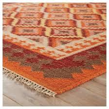 kilim trellis orange and red area rug target