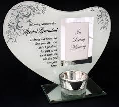memorial tea light candle holder glass tea light memorial candle holder with a space for a photo of