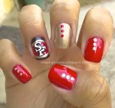 roxy u0027s time notd sf 49ers nail art