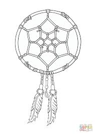 native american dreamcatcher coloring page free printable
