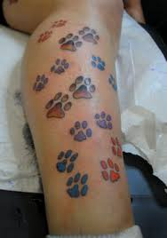 Leopard Print Flower Tattoos - 19 leopard paw prints tattoo designs images and pictures
