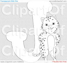 clipart outlined j is for jaguar coloring page royalty free