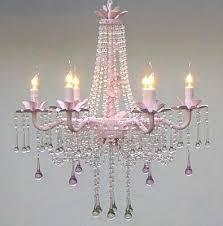Shabby Chic Bedroom Chandelier 38 Best Pink Chandeliers Images On Pinterest Pink Chandelier