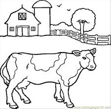 Cow Coloring Pages Free cow coloring pages free cattle coloring page pencil and in