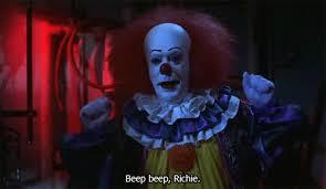 evil clown birthday animated gifs photobucket happy birthday tim curry pophorror