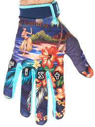 kids motocross gloves fist handwear navy hula strapped mx gloves fist handwear