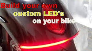 how to make custom led tail lights homemade diy integrated motorcycle led tail light clipzui com