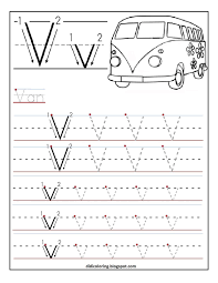 Writing The Alphabet Worksheets Free Printable Worksheet Letter V For Your Child To Learn And