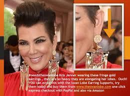 kris jenner diamond earrings the swan lobe limited needstheswanlobe kris jenner wearing