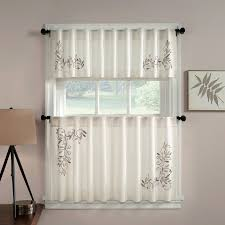 Modern Kitchen Curtains And Valances by Chf Industries Grace Tailored Kitchen Curtain Set Hayneedle