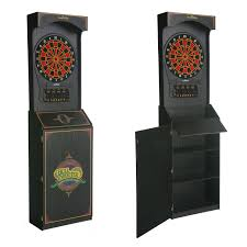 black dart board cabinet arachnid cricketpro 650 arcade electronic dart board complete set