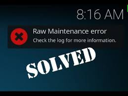 fix kodi error check the log for more information about this message