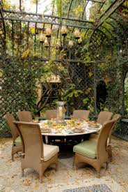 apartments terrific backyard design ideas with round table and