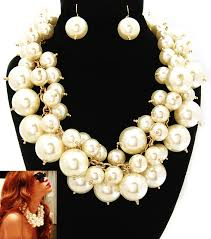big pearls necklace images Big bubble cream pearl necklace celebrity inspired jewelry jpg