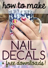 learn how to create cute decals to put on your nails they can
