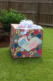 gender reveal balloons in a box pin by on announcements