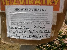 Jsouv by 2017 07 17 U2013 Cirkusová Show Se Zvířátky Plakáty U2013 Polná