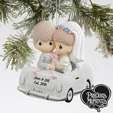 personalized ornaments wedding personalized just married christmas ornament wedding car