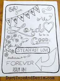 psalm 118 1 scripture coloring page