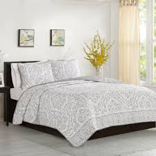 Grey Quilted Comforter Buy White Grey Quilted Comforter From Bed Bath U0026 Beyond