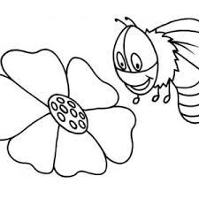 fat bumblebee scooping for honey coloring page fat bumblebee