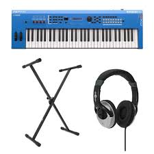 yamaha mx61 ii with stand and headphones blue at gear4music com