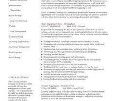 Sales Management Resume Retail Department Manager Resume Cbshow Co