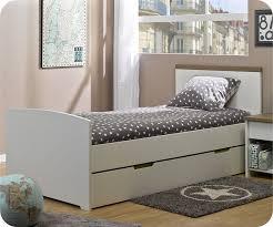lit pour chambre lit enfant island blanc 90x190 cm fabrication française