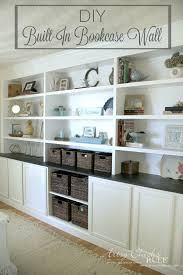 diy built in bookcases made with ikea hemnes furniture custom