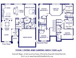 6 bedroom floor plans florida gold vacation homes your source for the best orlando and