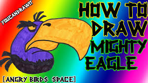 how to draw mighty eagle bird from angry birds space