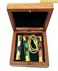 box keychain hourglass keychain set