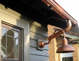 Copper Outdoor Lighting Fixtures Copper Gooseneck Lighting For 1920s Craftsman Style Home
