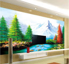 custom wallpaper papel de parede hd 3d landscape painting design