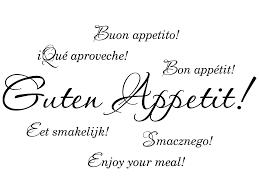 guten appetit sprüche wandtattoo guten appetit in verschiedenen sprachen klebeheld
