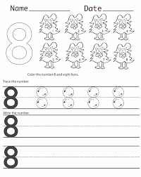 free number 8 worksheet to print kiddo shelter
